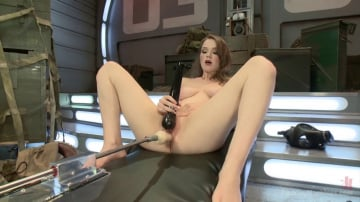 Alaina Fox - ATTENTION! Hottie on Deck! Our Strawberry Blond Soldier Fucks Machines