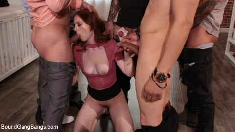 Kink 'Bound and Gangbanged by 5 Horny Homebuyers' starring Alex Harper (Photo 1)