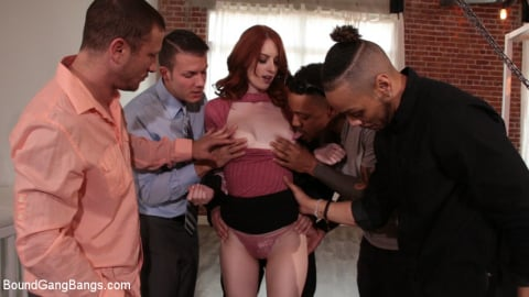 Kink 'Bound and Gangbanged by 5 Horny Homebuyers' starring Alex Harper (Photo 2)