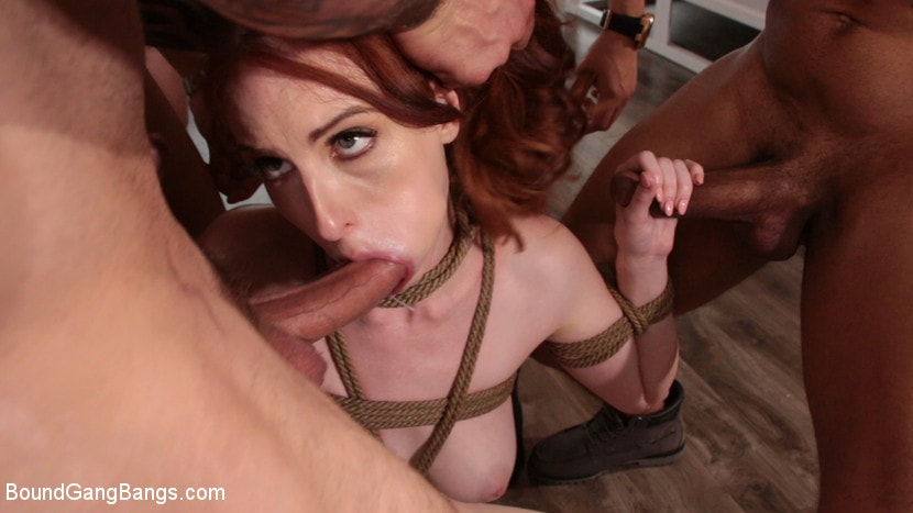 Kink 'Alex Harper Bound and Gangbanged by 5 Horny Homebuyers' starring Alex Harper (photo 8)