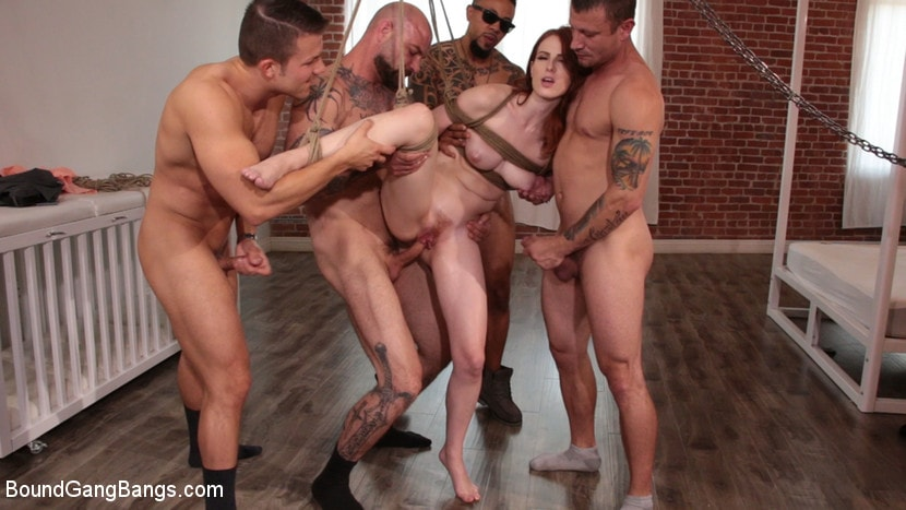 Kink 'Alex Harper Bound and Gangbanged by 5 Horny Homebuyers' starring Alex Harper (photo 10)