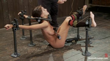 Alicia Stone - Alicia Stone Brutally bound, foot caned and made to cum over and over!