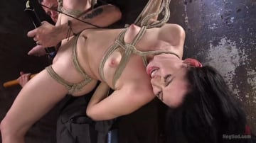 Aria Alexander - Petite Brunette is Captured in Bondage, Tormented, and Made to Cum