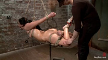 Ashli  Orion - Ashli Orion Cums Back for More Brutal Ties only on HogTied