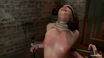 Ashli  Orion - Ashli has her huge puffy nipples tortured, is made to cum and skull fucked Takes a great body flogging