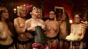 Bella Rossi - Masquerade Orgy with Nine Slaves,100 Horny Guests, Part Three