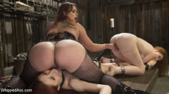 Bella Rossi - Young New Slave Brutally Inducted Into The Redhead Lesbian Dungeon (Thumb 02)
