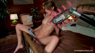 Capri Anderson - A FUCKINGMACHINES CLASSIC SHOOT Charlie Sheen's Girl with Our Robot