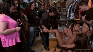 Chanell Heart - Eager Doe-eyed Slut fucked, humiliated and left at local Vintage Store
