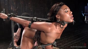 Chanell Heart - Ebony Pain Slut is Captured in Brutal Devices