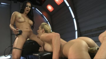 Cherie Deville - Incredible Pussy Battle Royal with Machines-Isis Love and Cherie Deville