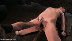 Cherry Torn - Female Slave Cherry Torn Tormented in Metal Bondage and Coerced Orgasm (Thumb 12)