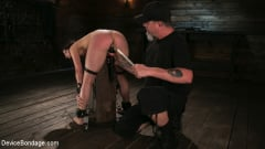 Cherry Torn - Female Slave Cherry Torn Tormented in Metal Bondage and Coerced Orgasm (Thumb 13)
