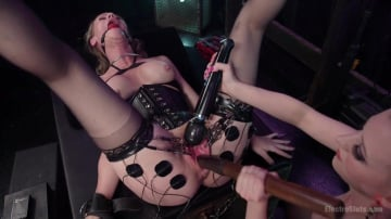 Cherry Torn - Hot MILF Simone Sonay submits to Latex Electo Dominatrix Cherry Torn