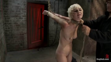 Chloe Camilla - Cute blonde suffers the hardest hour on the internet The Hogtied Live Show Strict strappado
