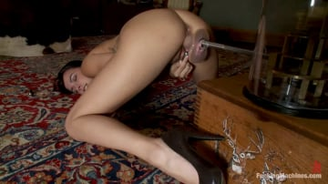 Danica Dillan - The Maid machine fucked in Forbidden Lounge