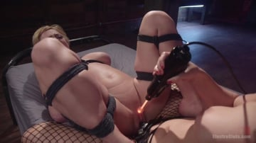 Darling - Electro Fuck Doll: Tough blonde babe submits to sadistic godess!