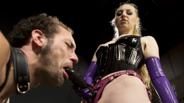 Delirious Hunter - Svelte Blonde Delirious Hunter Punishes and Fucks Buttslut Slave