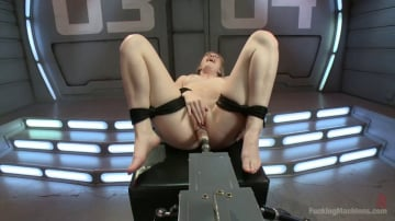 Dolly Leigh - Her 1st Kink Shoot - Local girl, tied up and machine fucked, MANY Orgasms