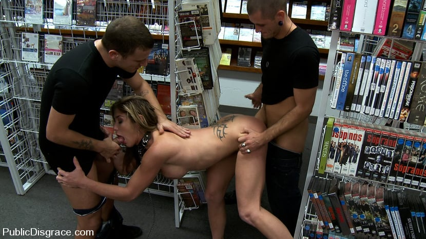 большой фаллос гиг порно в магазине светлым пятно