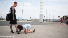 Francesca DiCaprio - Young Whore Francesca DiCaprio Shamed, Tied-Up, and Fucked in Public! (Thumb 02)