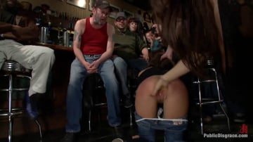 Gia DiMarco - Gia DiMarco gets Double Penetrated at a Public Bar