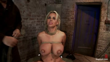 Holly Halston - Holly Halston all American MILF Her massive breasts oiled watered and bound, she can't stop cumming