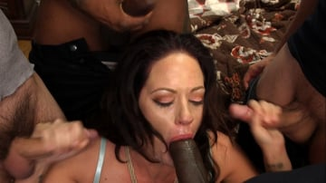 Holly Heart - Hot MILF Wife Gangbanged and Glazed By Husband's Friends!