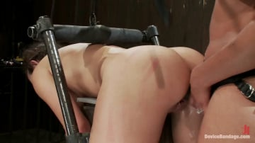 Isis Love - Bent Over a Post and Fucked