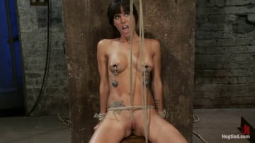 Isis Love - This is old school bondage and suffering at its best. The backbreaking crotch rope from HELL.