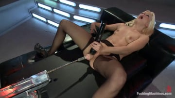 Jessie Volt - Hot French Girl Fucked Hard By Machines in Her Pussy and Ass