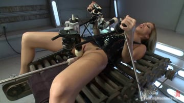 Kayla Carrera - Gone in 60 seconds: HOT MILF cums fast, hard and over and over again from MACHINES