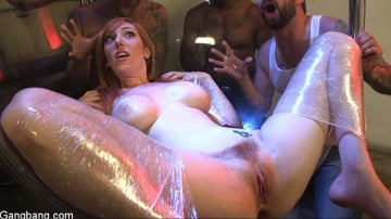 Lauren Phillips - All Natural Redhead Lauren Phillips gets Double Anal from a Gang Bang!