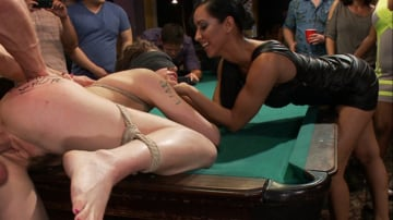 Lily LaBeau - Lily LaBeau gets played in raunchy Pool Hall