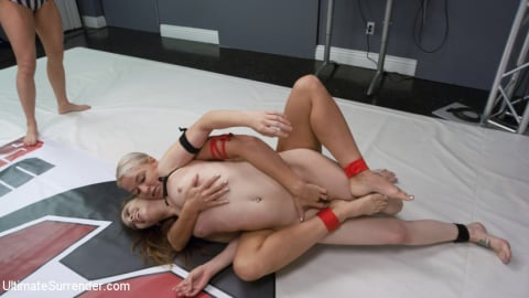 Kink 'Blonde Pain slut and all Natural brunette battle in a sex fight' starring London River (Photo 8)