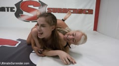 London River - Blonde Pain slut and all Natural brunette battle in a sex fight (Thumb 15)