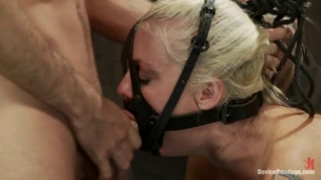 Lorelei Lee - Hot Blond BDSM Slave get bound in hard metal Brutally fucked by James Dean and Isis Love