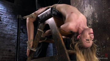 Lyra Louvel - Young Blonde Babe is Devastated in Brutal Bondage and Made to Cum