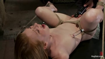 Madison Young - Huge Nipples Tied and Stretched. Double penetrated to Orgasm!