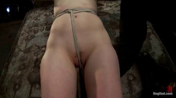 Mallory Mallone - Clothes pins are whipped off this sexy amazons body. Nasty Crotch rope keeps her screaming and cumming