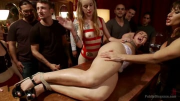 Mandy Muse - 19 year old All Natural Slut Gets fucked in Bondage at an elegant party