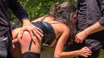 Melody Petite - Spanish Slut Frida Sante Fucked Outdoors