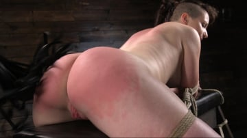 Paige Pierce - Pain Slut Paige Pierce Submits to Rope Bondage and Corporal Punishment