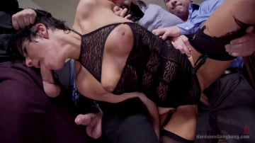 Rose Rhapsody - Cum Face Office Bitch Begs for Hard Corporate Fuck Fest!