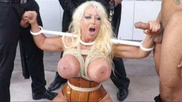 Alura Jenson - MILF Dominatrix Takedown: Gigantic Titted Dominatrix Gets Bound and DP'd