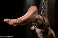 Sensi Pearl - Destructive orgasms - this Little Brunette is made to cum in stressful bondage (Thumb 03)