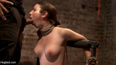 Serena Blair - Local girl next door bound up tight and helpless, flogged, nipple clamped, made to suck cock, and cum! (Thumb 03)