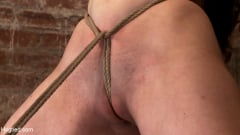Serena Blair - Local girl next door bound up tight and helpless, flogged, nipple clamped, made to suck cock, and cum! (Thumb 07)