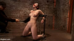 Serena Blair - Local girl next door bound up tight and helpless, flogged, nipple clamped, made to suck cock, and cum! (Thumb 10)