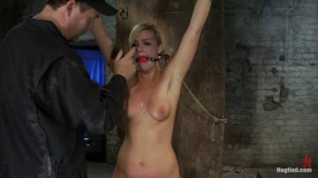 Tara Lynn Foxx - Califorina Blond bound spread Pulled to the breaking point and made to cum HARD!